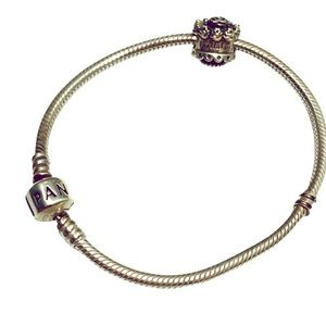 Pandora Bracelet with Happy Birthday Charm